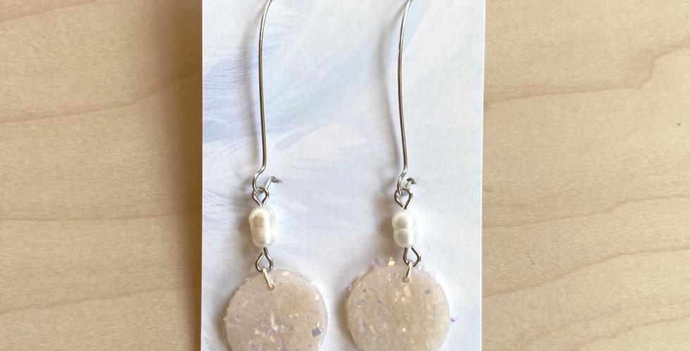 Fresh Opal Pearl | Clay Earrings