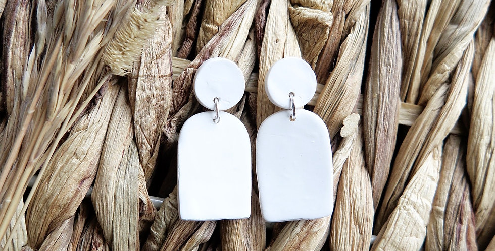 Original Mini Moon & Arch | Clay Earrings