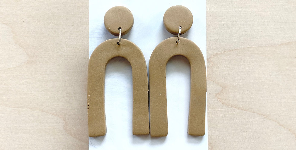 Love You a Latte (Tall) | Clay Earrings