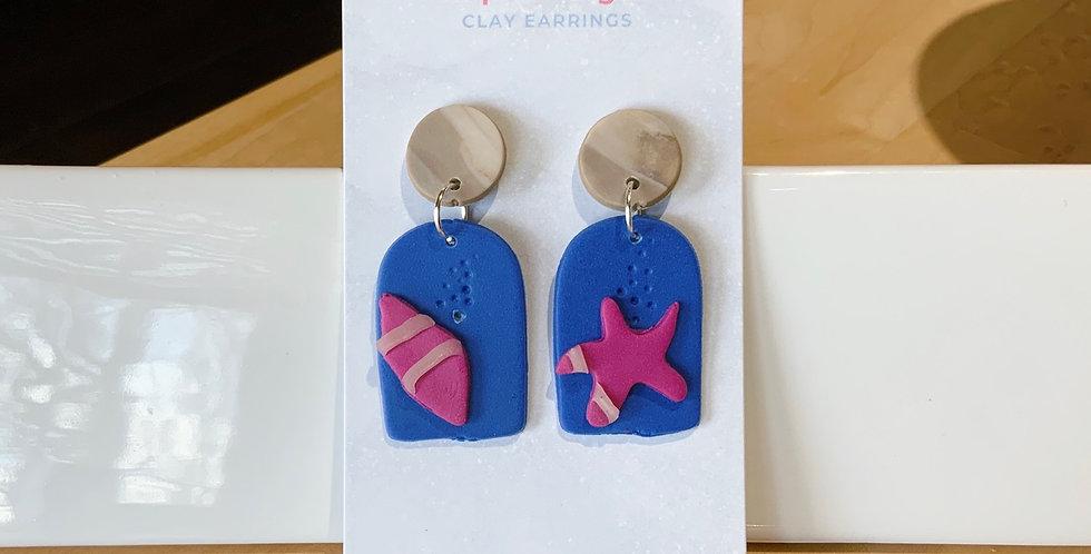 Life-Giving Flow | Beachy Style II | Clay Earrings