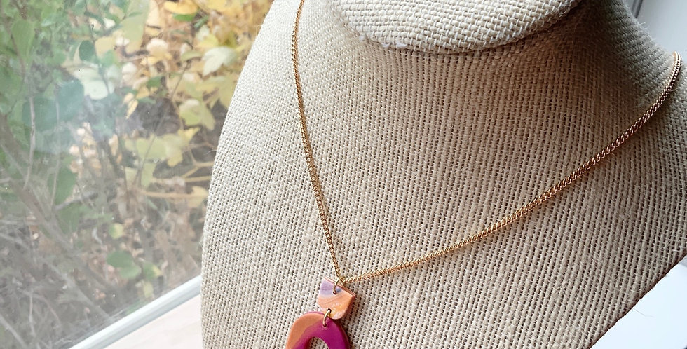 Harvest Fall | Clay Necklace