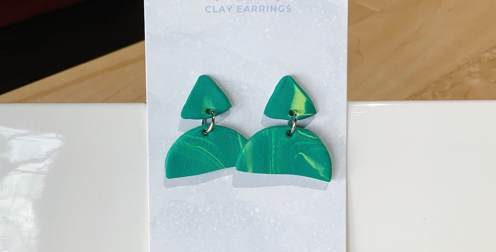Growing Softly | Clay Earrings Studs