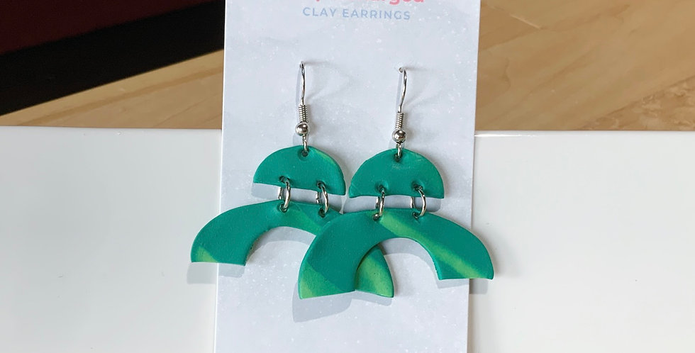 Potter's Avocado | Clay Earrings