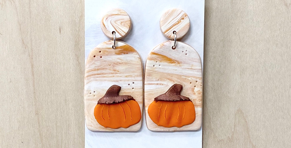 Harvesting Pumpkin Spice | Clay Earrings