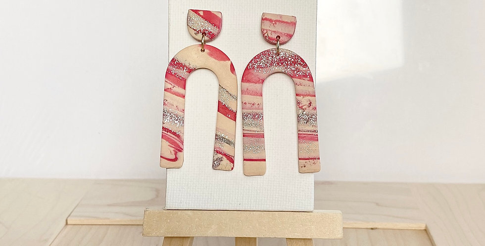 My Candy Cane Legacy | Clay Earrings
