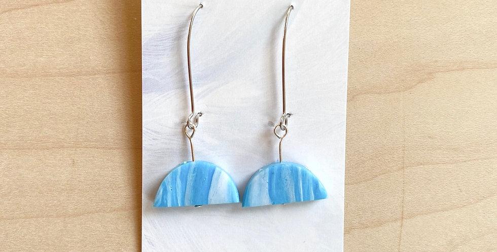 Water Drops   Clay Earrings