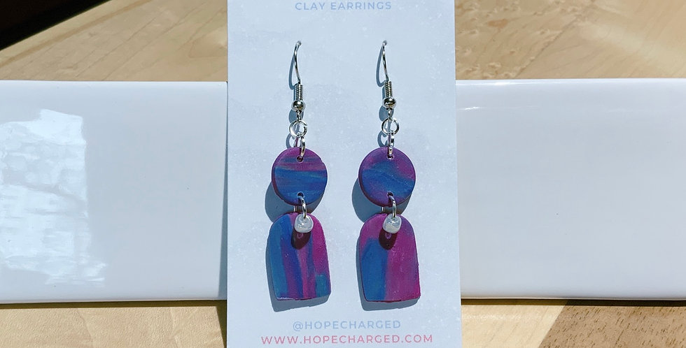 Sign Of Peace |Banner Style VIII | Clay Earrings