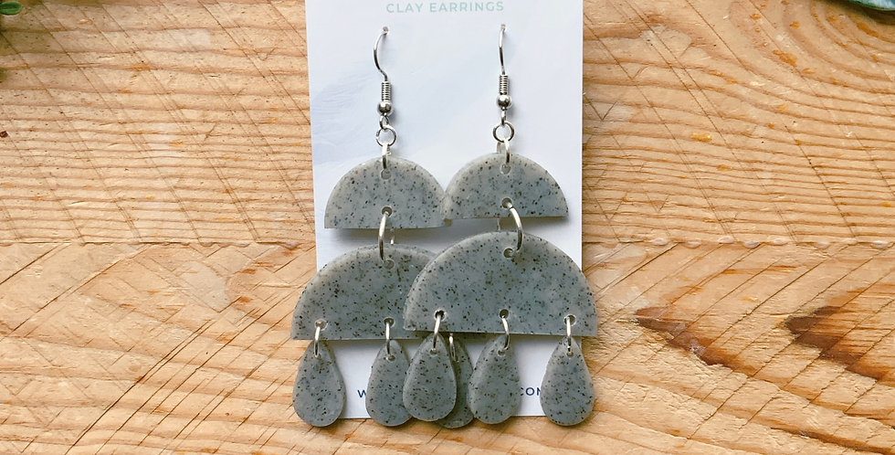 Stone Work | Chandelier Collection | Clay Earrings