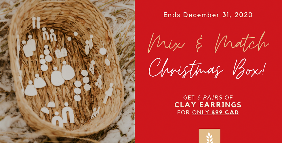 Mix & Match Christmas Box – 6 Pairs of Clay Earrings