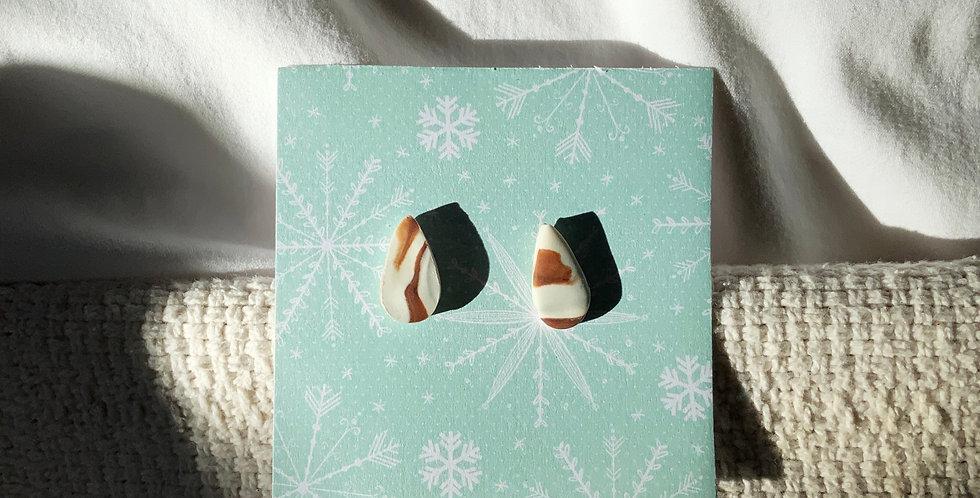 Xmas Marble Mini • Clay Earrings