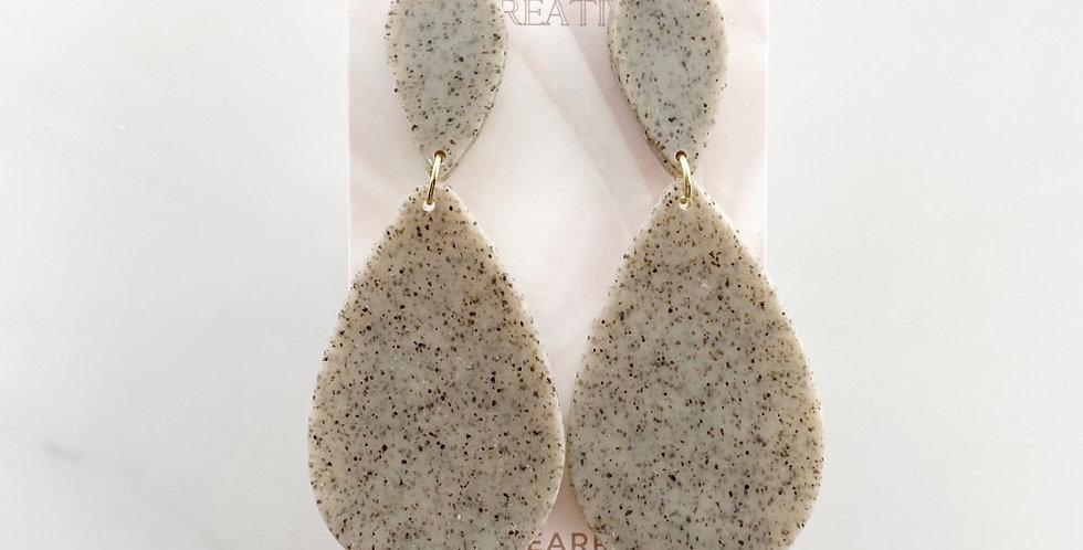 Clay Stone Drops | Clay Earrings