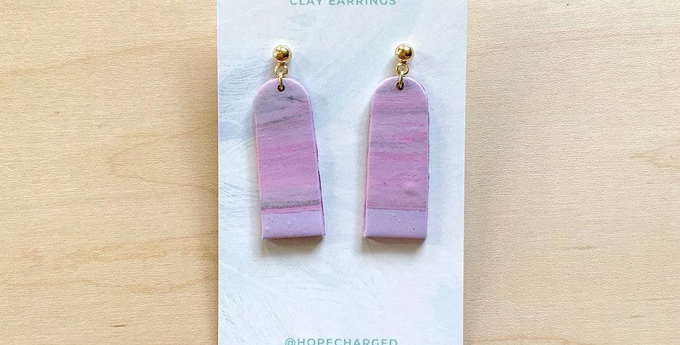 Tall Lavender Latte | Clay Earrings