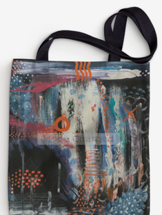 Print of Original Painting | Besign You In The Valley | Tote Bag