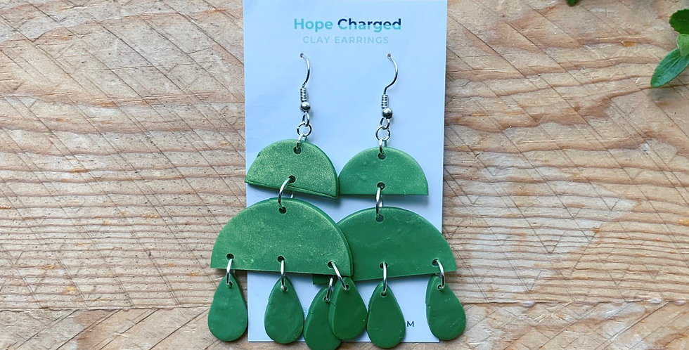 Greenery | Chandelier Collection | Clay Earrings