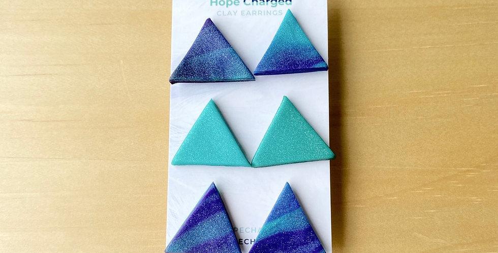Bold Triangle Studs