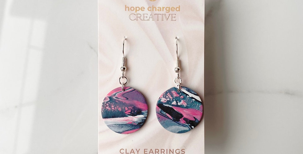 Floating In Space | Clay Earrings