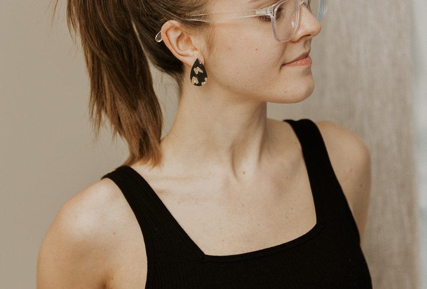 Drops of Clay (Leopard)   Clay Earrings