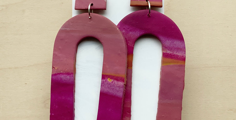 Giant Fall Arches | Clay Earrings