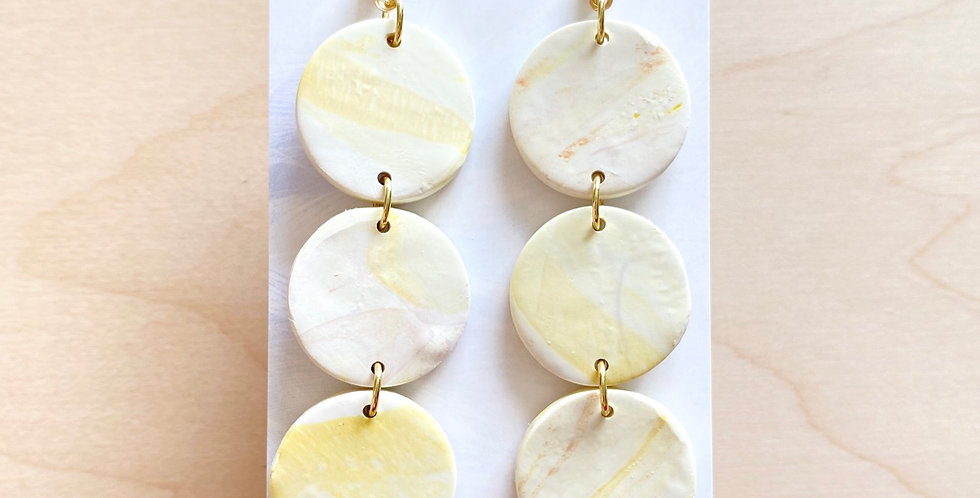 Golden Three Sisters | Clay Earrings