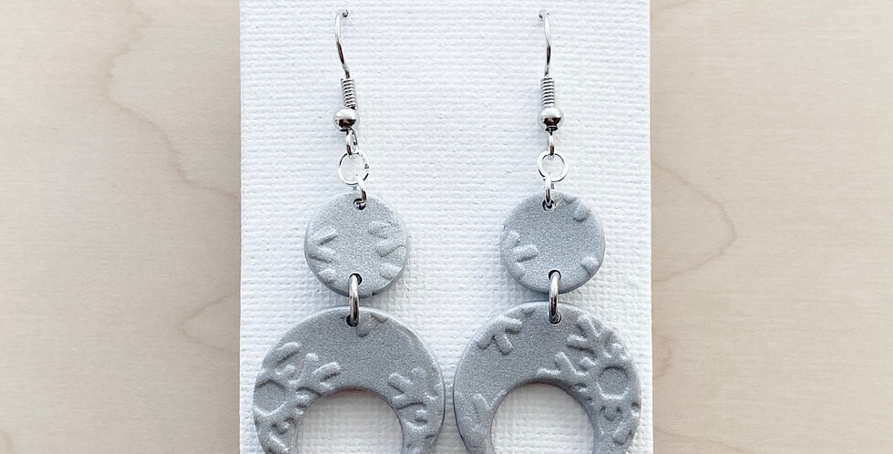 Snowing Over the Moon | Clay Earring