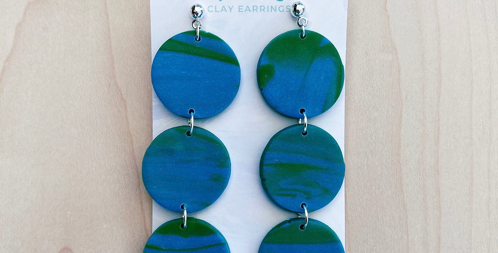 Peace on Earth  | Clay Earrings