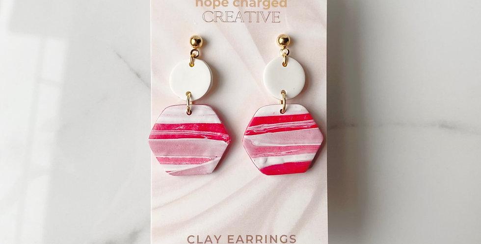 Joyful Hexagons | Clay Earrings