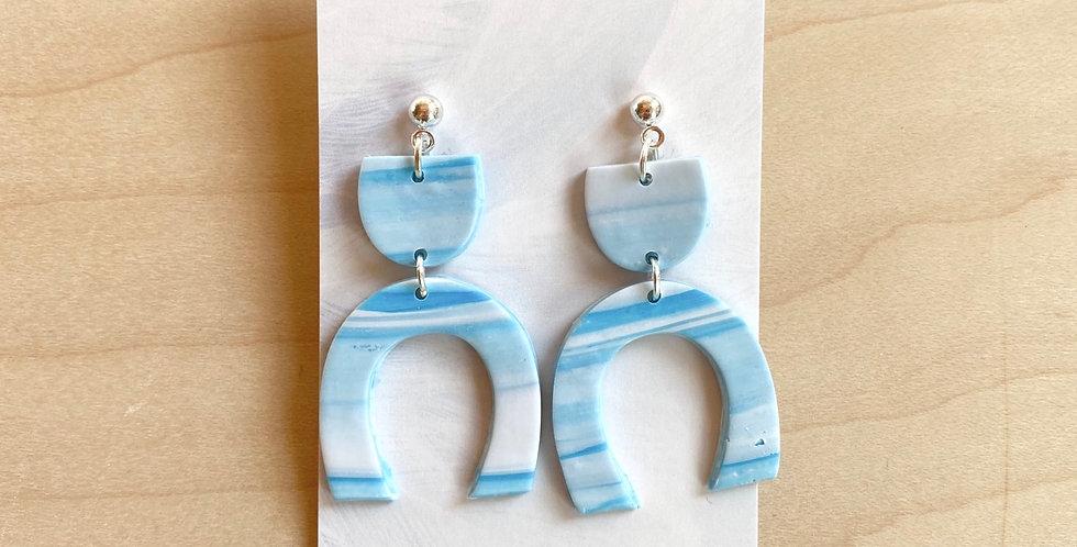 Marble of Living Water | Clay Earrings