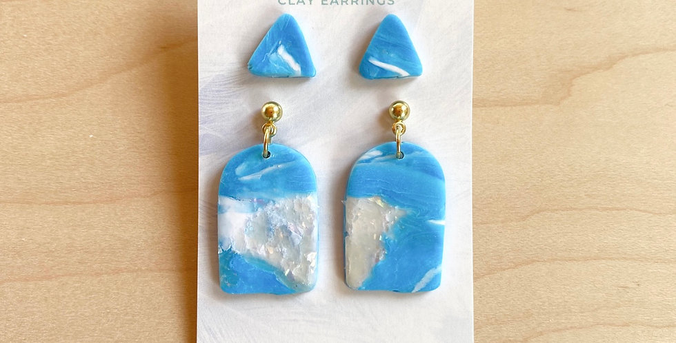 Spirit Moving Over the Water (Studs) | Clay Earrings