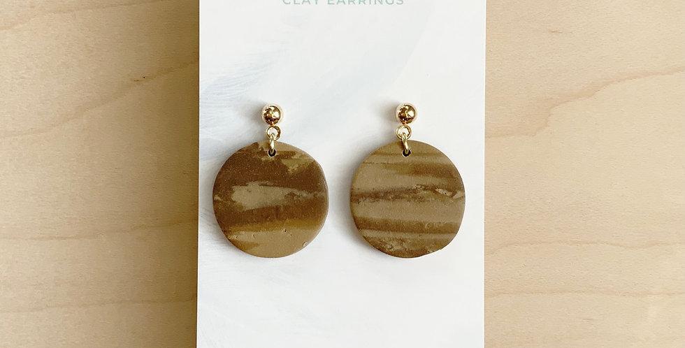 Simple Mocha Cookies   Clay Earrings