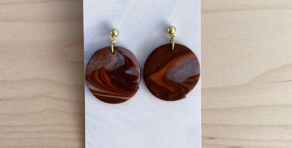 Freedom In The Earth | Clay Earrings