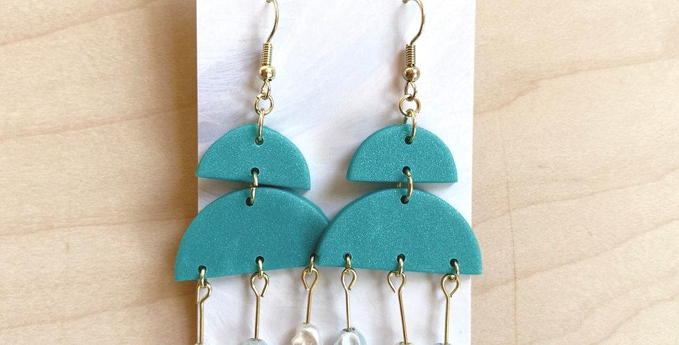 Freshwater Chandelier | Clay Earrings