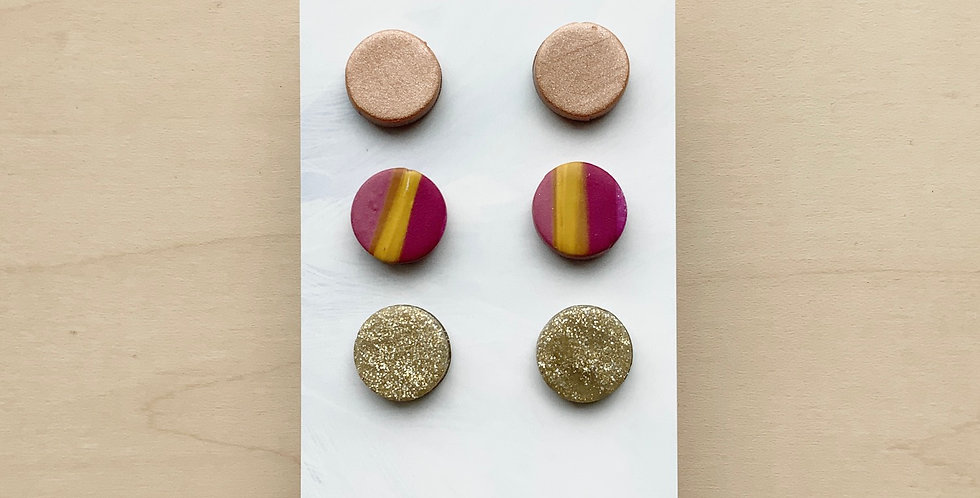 Fall Studs | Clay Earrings