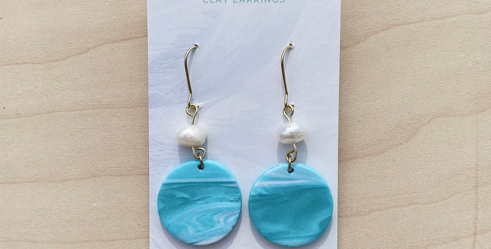 Alberta Lakes | Clay Earrings