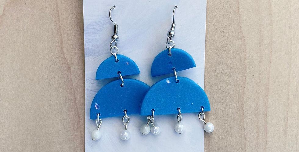 Peace & Beads Chandelier    Clay Earrings