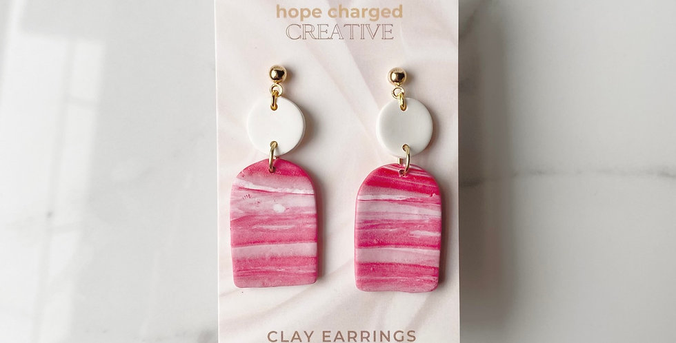 Peace and Love | Clay Earrings