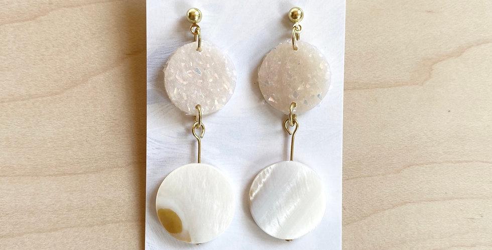 Opal Shell | Clay Earrings
