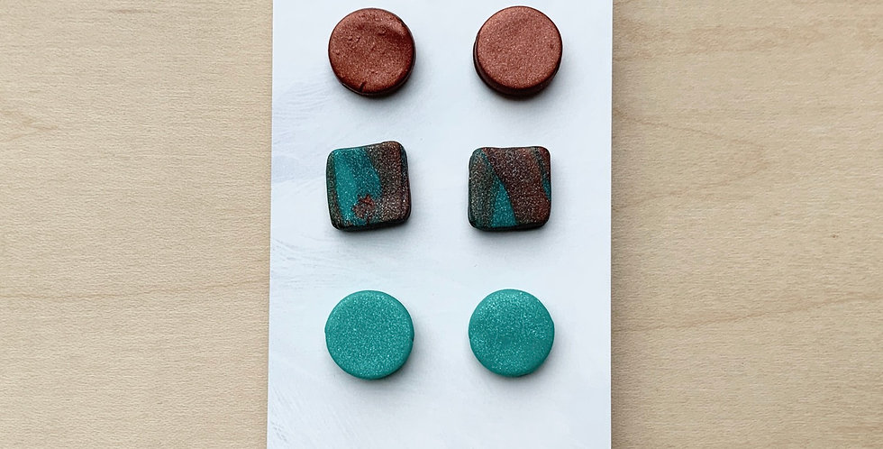 Alberta Studs | Clay Earrings