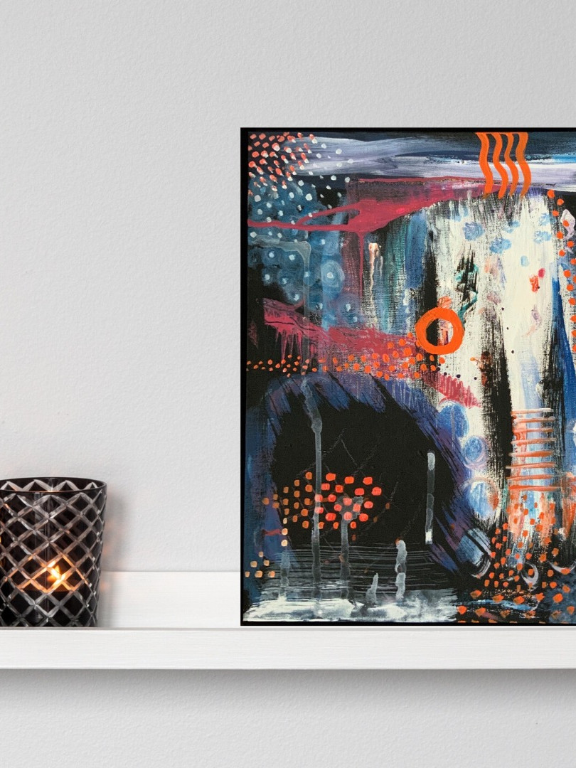 Print of Original Painting | Besign You In The Valley | Canvas