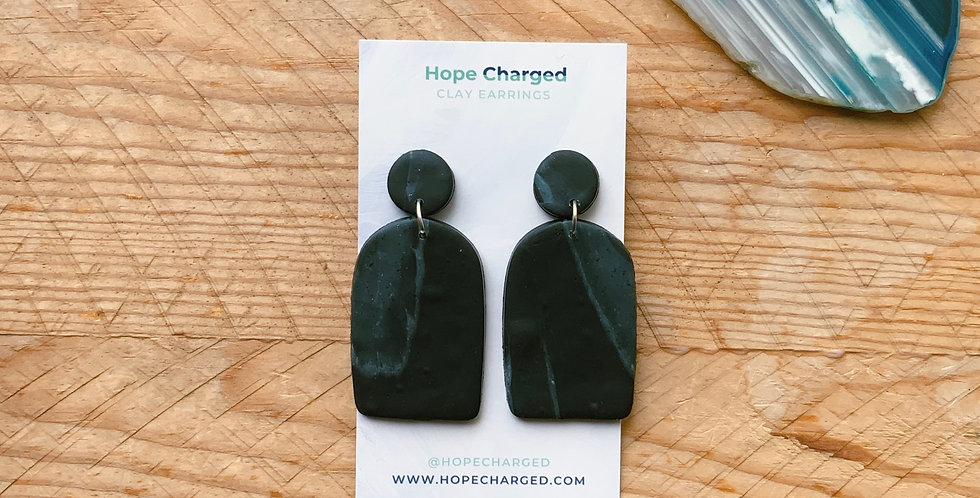 Noir Delight | Arch Collection | Clay Earrings