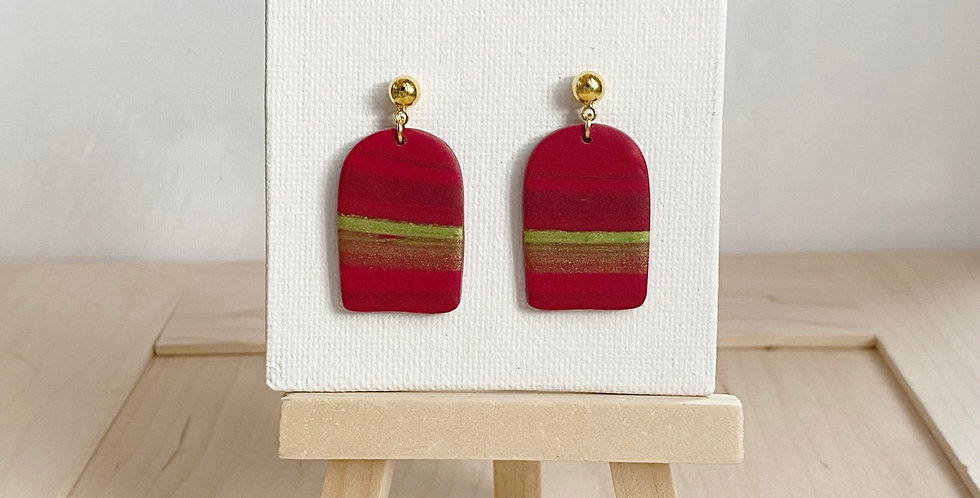 Christmas Arches | Clay Earrings