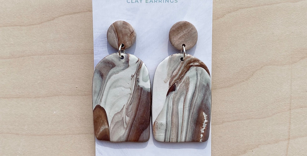 Organic Marble Arch | Clay Earrings