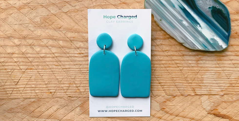 Matte Sea Glass | Arch Collection | Clay Earrings