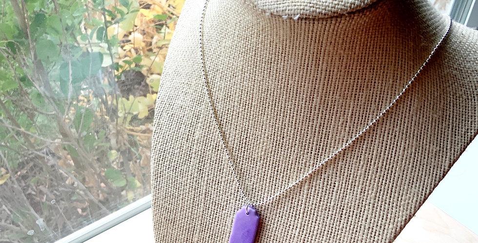Purple Delight | Clay Necklace