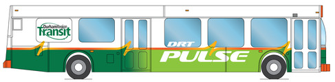 Pulse bus schematic graphics - side view