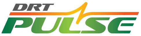 Durham Region Transit (DRT) Pulse logo design.