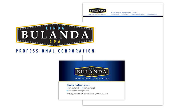 LINDA BULANDA CPA  Wildly successful corporate rebranding including logo, website, business cards and letterhead for a growing accounting practice.