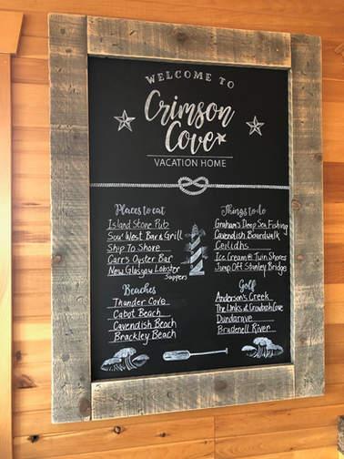 Crimson Cove Custom Chalkboard