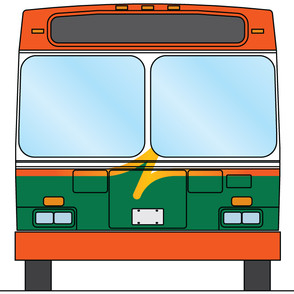 Pulse bus schematic graphics - front view