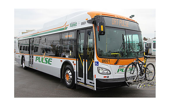 DURHAM REGION TRANSIT  Aftershock developed the name, logo, vehicle graphics and print/outdoor for the Durham Region Transit rapid service line.
