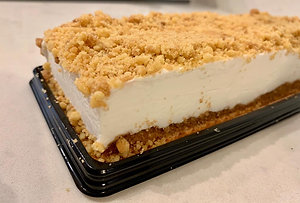 עוגת גבינה פירורים-פס